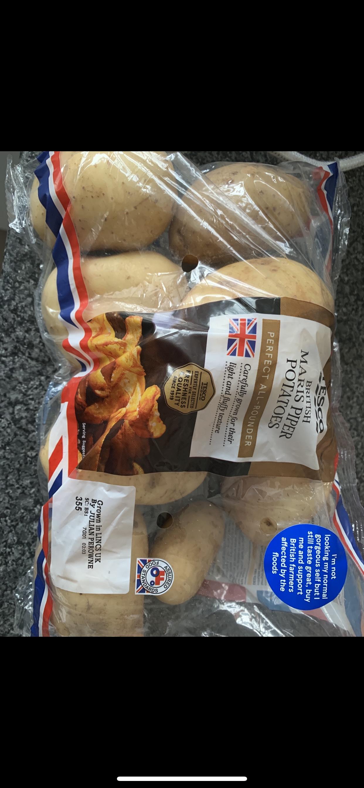 Maris piper potatoes 0.29p @tesco express