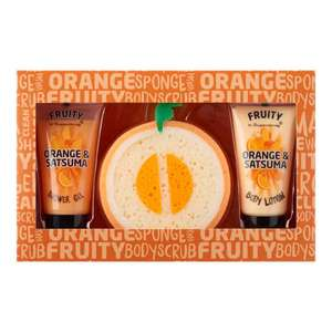 Superdrug Christmas Gift-Sets Up to 60% off e.g. Fruity Orange & Satsuma Shower Set - £4 + free Click and Collect - instore & Online