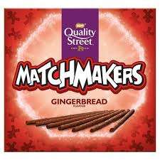 120g Box, Nestle, Quality Street Matchmakers - Gingerbread. Just 49p Heron Foods, Abbey Hulton