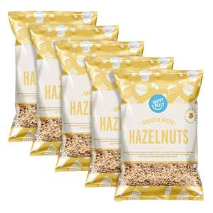 Amazon prime add on-Happy Belly Roasted and Diced Hazelnuts 200g x5 - £5.27