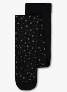 Black star print opaque tights sizes 18 months to 8 years Available 70p @ Argos - Using Click & collect