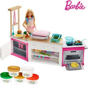 Barbie FRH73 CAREERS Ultimate Kitchen with Doll Playdough, Cooking, Baking Toy £25.52 @ Amazon
