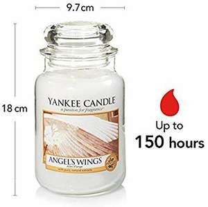 Yankee Candle Large Jar Scented Candle, Angel's Wings £15.99 prime / £20.48 non prime @ Amazon