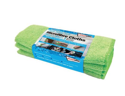 Streetwize 2pk Microfibre Glass Towel 98p @ Carparts4less