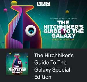 Hitchhiker's guide to the galaxy special edition full season SD plus extras @ Google Play £2.99