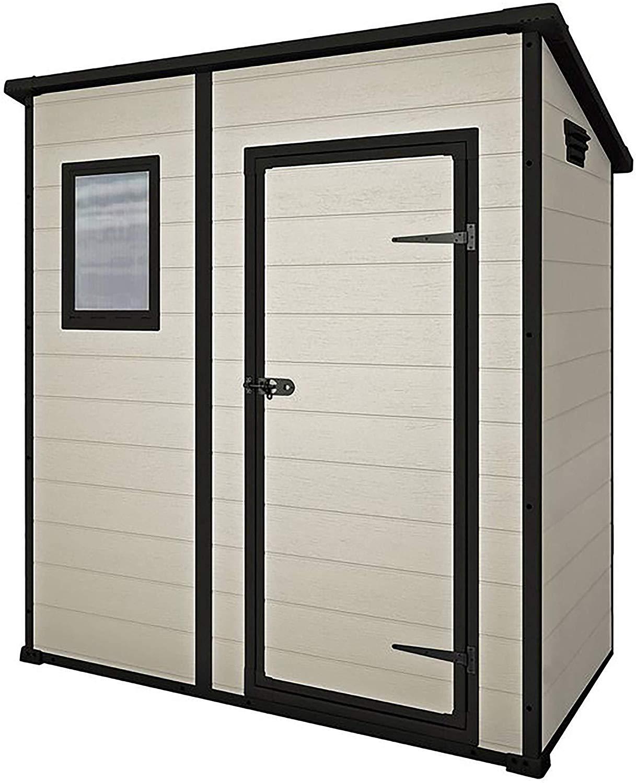 Keter Manor Pent Outdoor Plastic Garden Storage Shed, Beige/Brown, 6 x 4 ft - £154.15 delivered @ Amazon