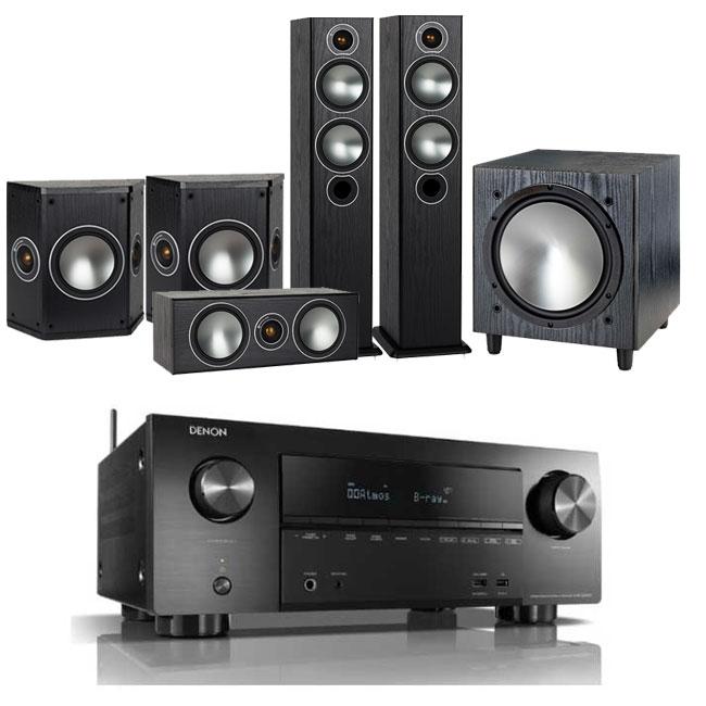 Denon AVRX2600H AV Receiver with Monitor Audio Bronze 5 AV 5.1 Speaker package £1319.90 delivered @ Electric Shop