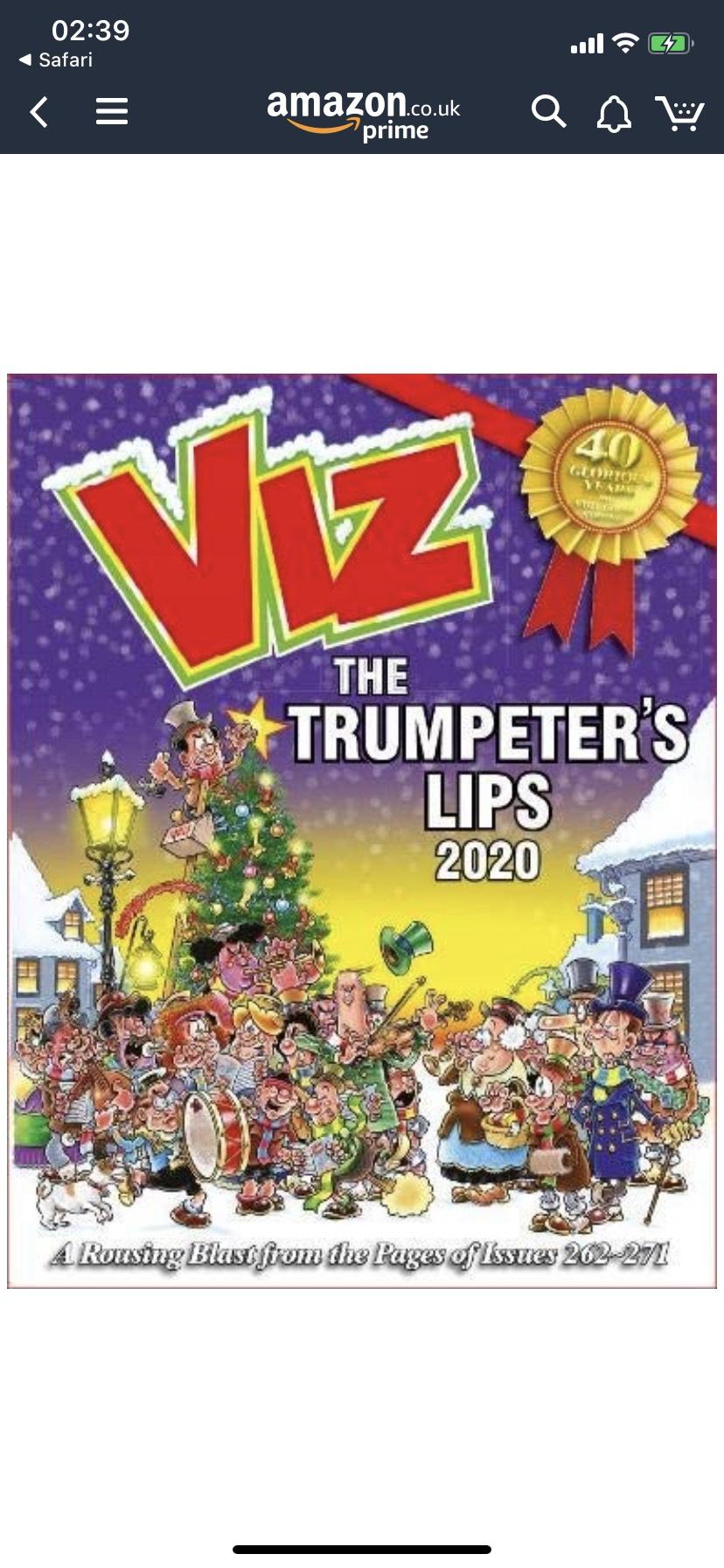 Viz Annual The Trumpeters Lips. £6.97 (+£2.99 Non Prime) @ Amazon