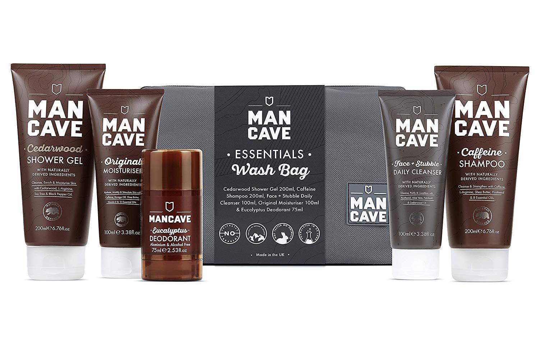 ManCave Essentials Wash Bag Set - Amazon Exclusive £5 for 5 full size items & bag Prime (£4.49 non Prime)