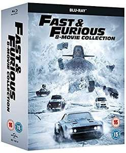 Fast and furious 8 movie collection blu ray £20.69 at Amazon 4%tcb