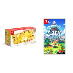 Nintendo Switch Lite + Legend of Zelda Links Awakening Standard Edition at Amazon for £219.19