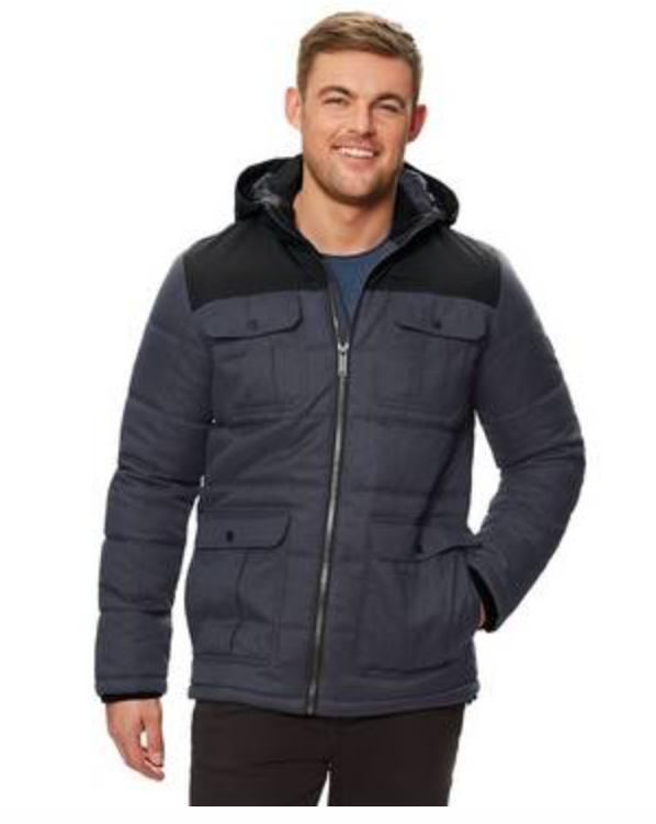 Up to 70% off Men's Regatta Jackets e.g Regatta - Blue 'Arnault' Insulated Hooded Coat @ Debenhams