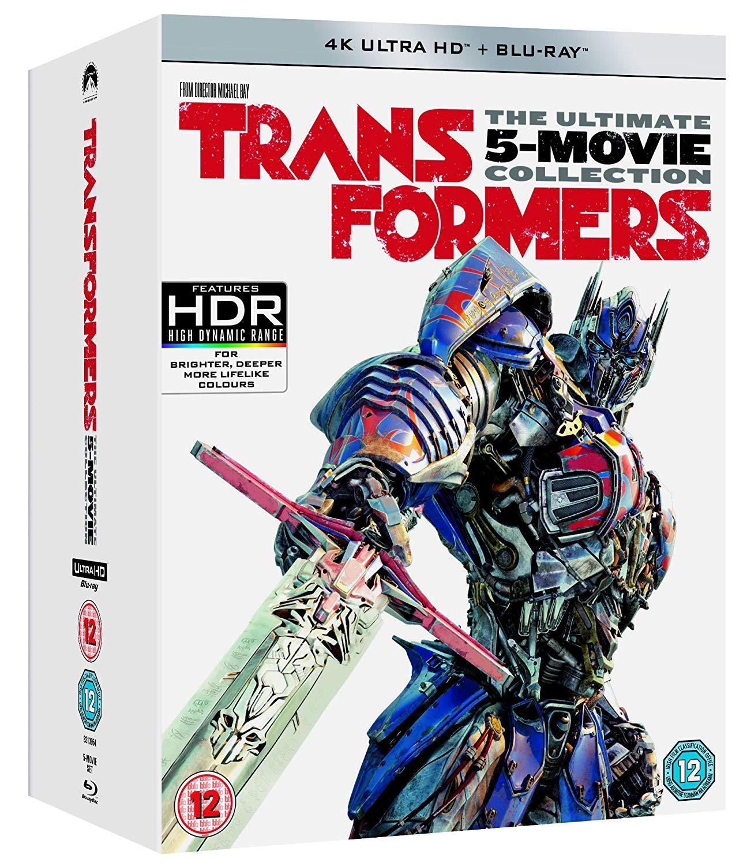 4K Blu-Ray Transformers: 5 - Movie Collection Box Set