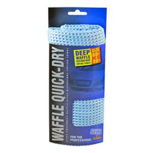 Waffle Quick-Dry Blue Microfibre Drying Towel was £7.00 now £1.92 (with code) at Carparts4less