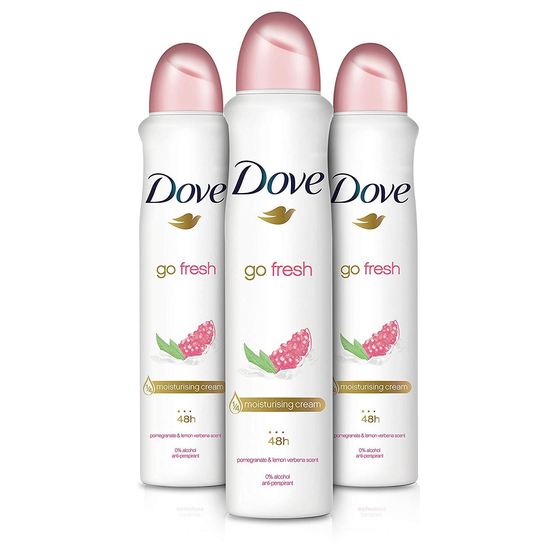 Dove Go Fresh Pomegranate Aerosol Anti-Perspirant Deodorant 250 ml - Pack of 3 (Subscribe & Save) £4.26 Prime / +£4.49 non Prime @Amazon