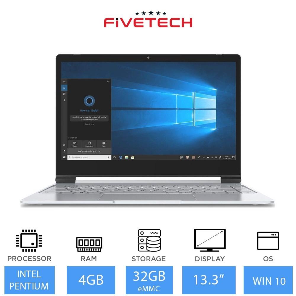 """Fivetech 13.3"""" laptop, IPS 1080p screen, N4200, 4GB RAM, 32GB storage, Windows 10 (Refurbished) £114.99 @ Laptop Outlet"""