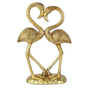 Gold Flamingo Sculpture for £13 @ Dunelm (Free click and collect)