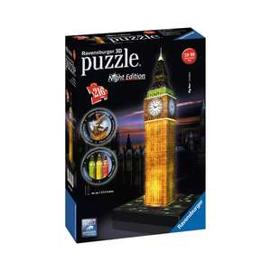 Half Price 3D Puzzles @ Debenhams (Ravensburger Night Edition Big Ben £12.50) More in the thread (Free Click and Collect)