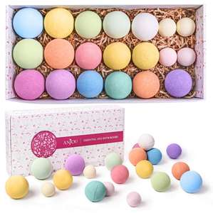20 Bath Bombs Gift Set - Moisturizing Dry Skin £13.99 For All Using Code - Sold by Sunvalleytek-UK and Fulfilled by Amazon