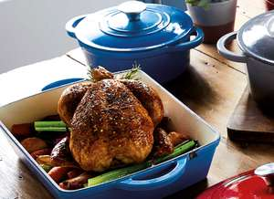 ALDI Cast Iron Cookware from £6.99 to £24.99 (Roasting Tray, Casserole Dishes, Skillet, Griddle, Grill Tray) - In-Store