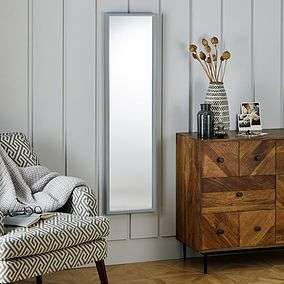 Essentials Full Length Mirrors £8 @ Dunelm (Free Click and Collect) Choice of Grey, White and Black