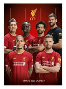 Liverpool FC 2020 Official A3 Calendar £3.50 Prime £6.49 Non Prime @ Amazon