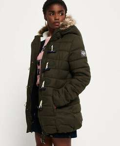 Womens Superdry Tall Marl Toggle Puffle Jacket £42.49 using code @ eBay / Superdry