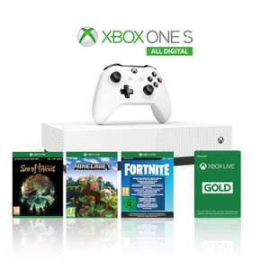 Xbox One S 1TB All-Digital Edition + Minecraft + Sea of Thieves + 2000 Fortnite V Bucks + Skins for £93.44 Delivered @ Amazon France