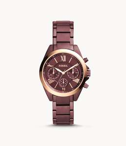 Fossil MODERN COURIER MIDSIZE CHRONOGRAPH WINE STAINLESS STEEL WATCH for £67.60 delivered @ Fossil