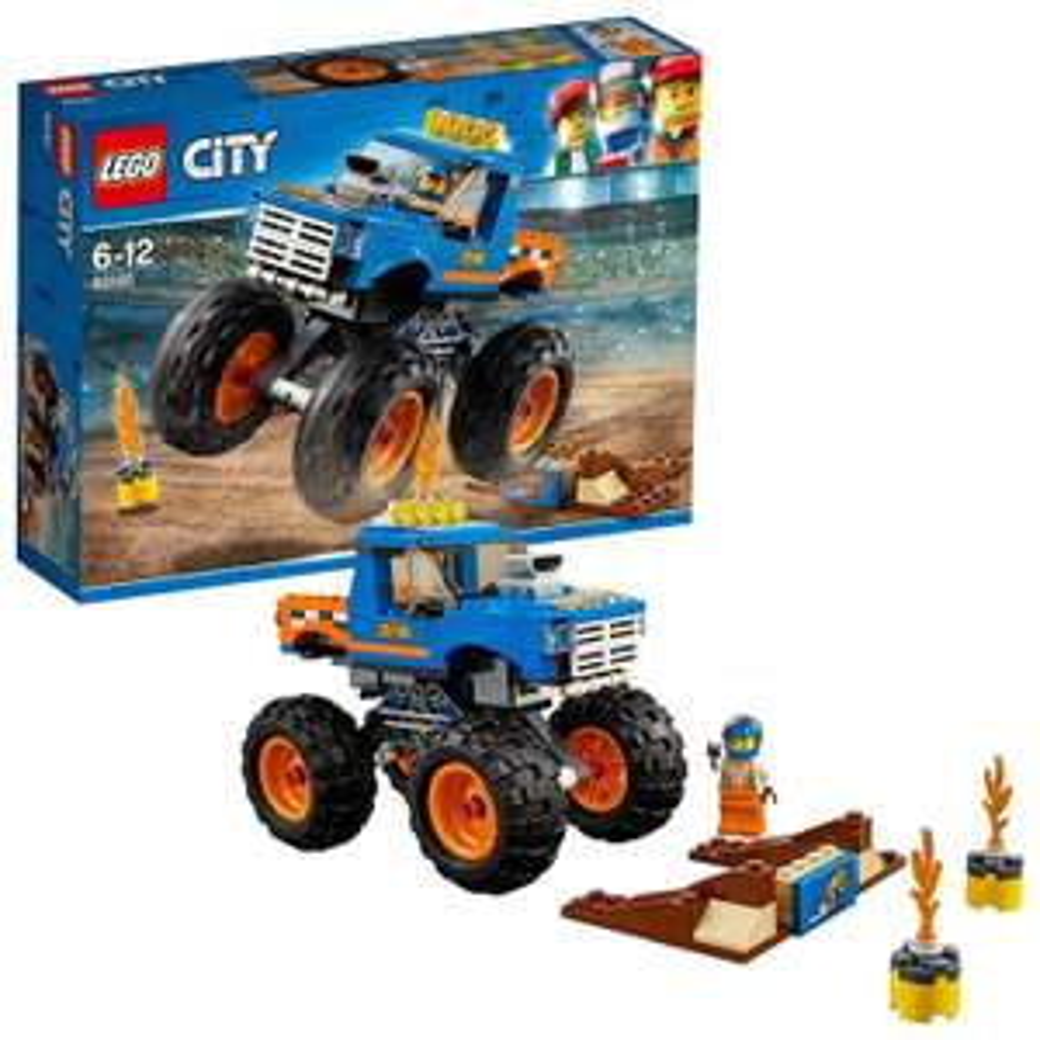 LEGO 60180 City Great Vehicles Monster Truck£8.69 (+£4.49 Non Prime) @ Amazon