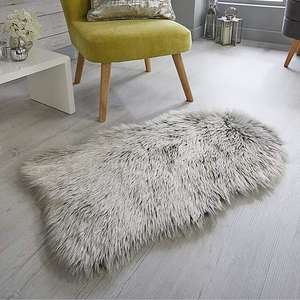 Faux Fur Shimmer Rug (Grey or White) for £5 @ Dunelm (Free click and collect)