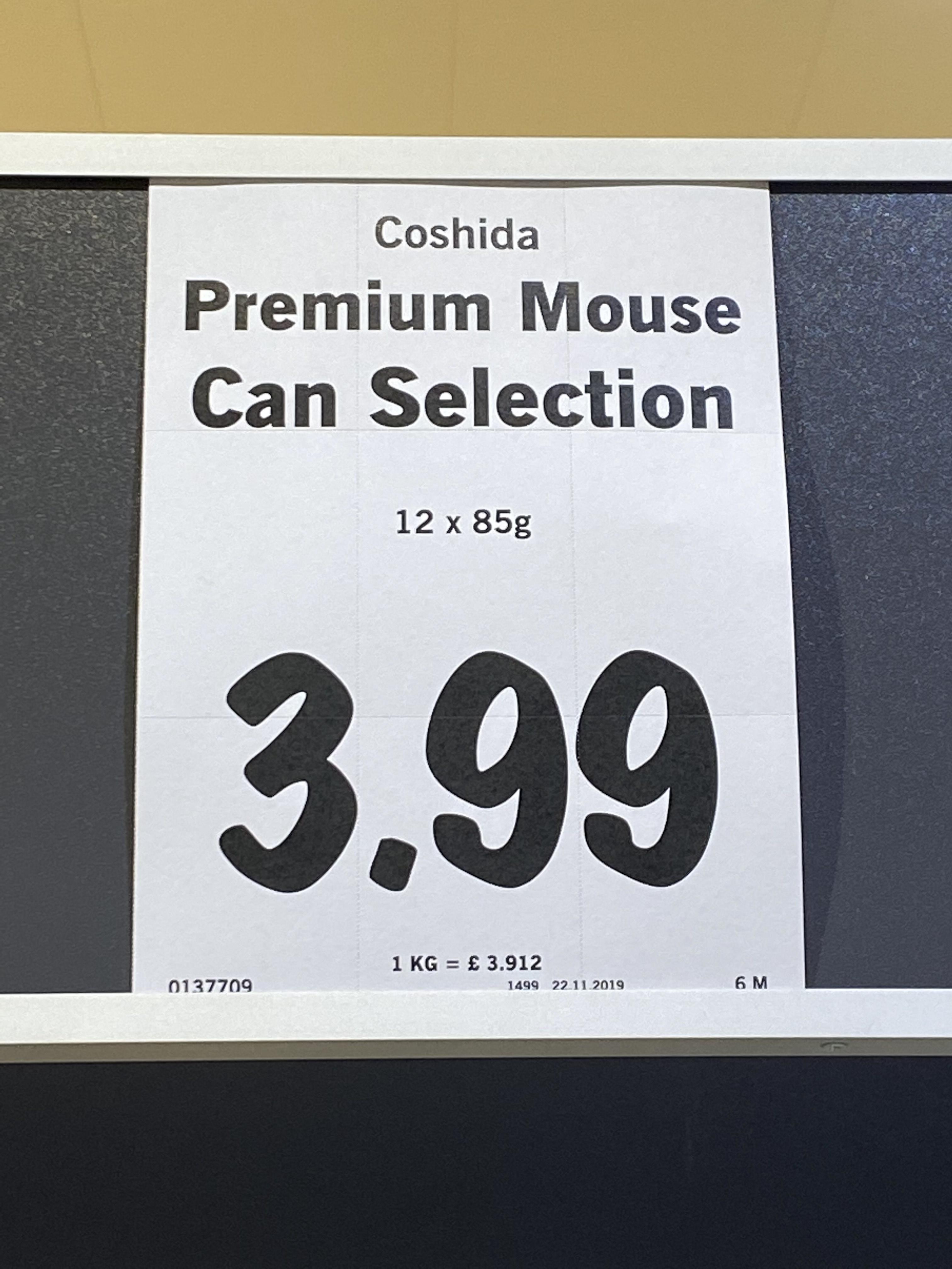 Coshida Premium Cat Food 12 x 85g pouches £3.99 instore @ Lidl