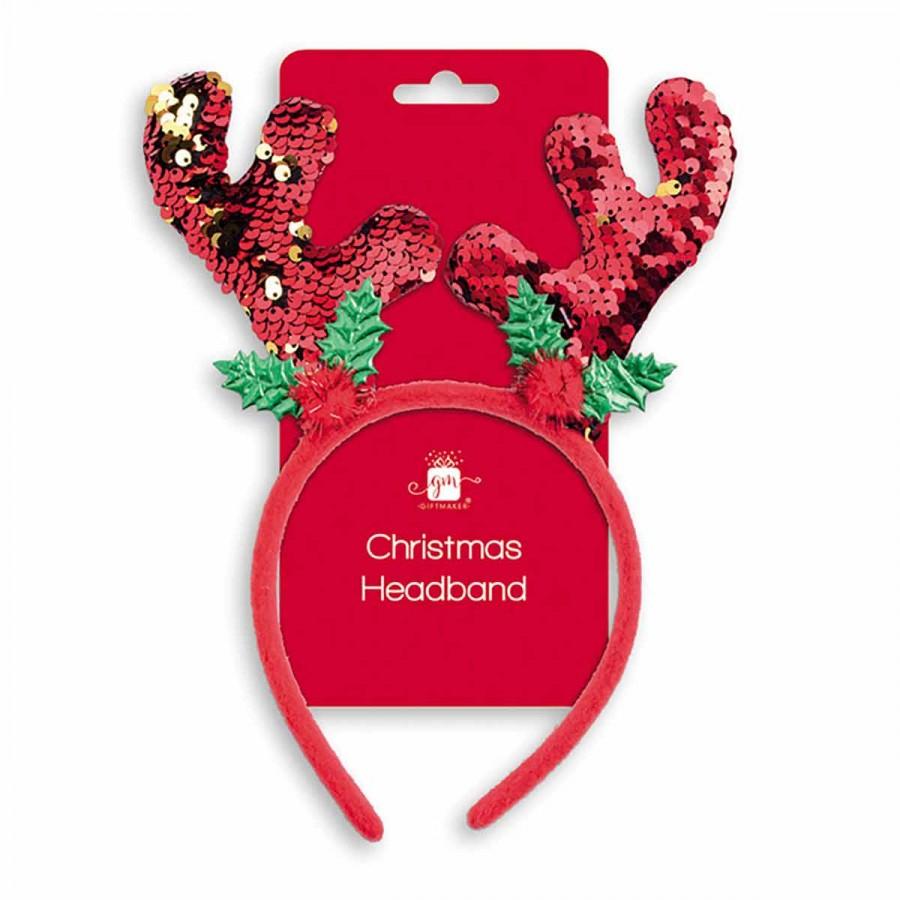 Ryman - Reindeer Antlers Christmas Headband with Reverse Sequin 74p - Free C&C