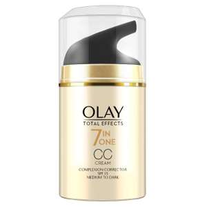 Olay Total Effects CC Medium Dark - £3.33 + £1.50 Click and Collect @ Boots Shop