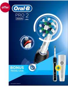 Oral-B Pro 2500 Rechargeable Electric Toothbrush black for £20 + FREE Click & Collect @ Boots