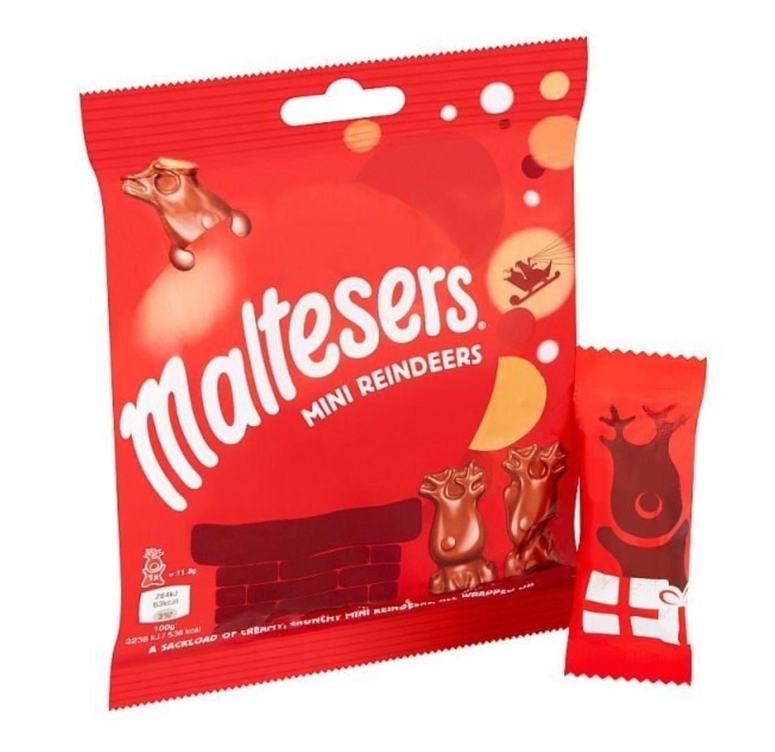 Maltesers Merryteaser Mini Chocolate Reindeer Bag 59g @ Superdrug