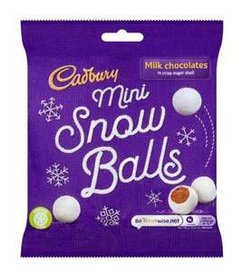 Cadbury Snowballs Bag 80g 49p - free click and collect @ Superdrug