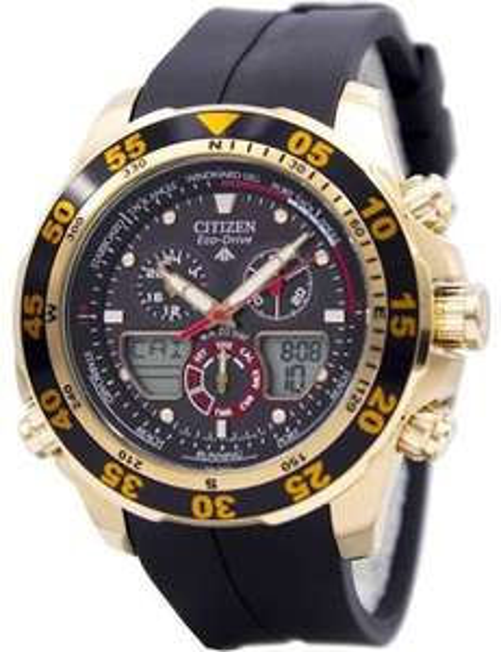 Citizen Eco-Drive Promaster Chronograph World Time JR4046-03E Men's Watch £151 Creation Watches
