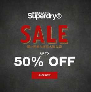 Up to 50% off Superdry sale + FREE delivery & Returns
