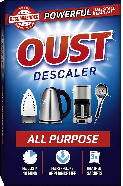 Oust Powerful All Purpose Descaler, Limescale Remover – 3 Sachets £1.66 Prime / +£4.49 non Prime @ Amazon