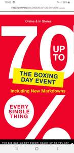 Gap up to 70% off boxing day sale. Free delivery if you spend £50+ or free click& collect. Examples in post