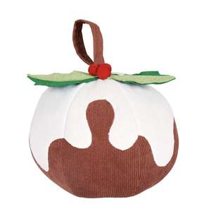 Christmas Pudding Doorstop - £1 + free Click and Collect @ Homebase