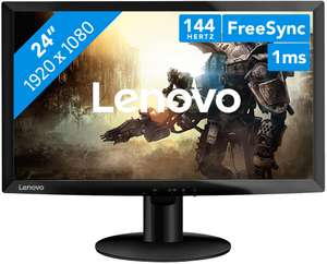 "Lenovo D24f-10 23.6"" FHD Freesync TN 144hz 1ms Gaming Monitor £99.99 at Lenovo (3 years warranty)"