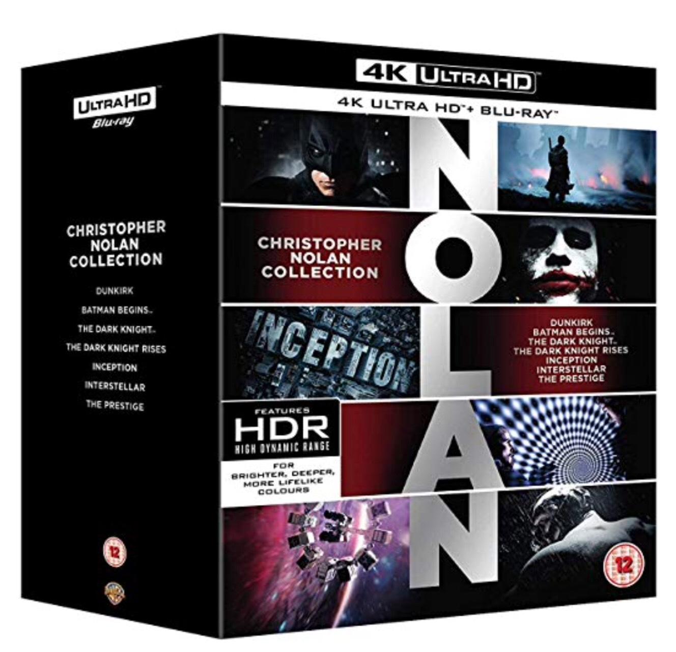Nolan 4K Collection [Blu-ray] [2018] £53.99 @ Amazon