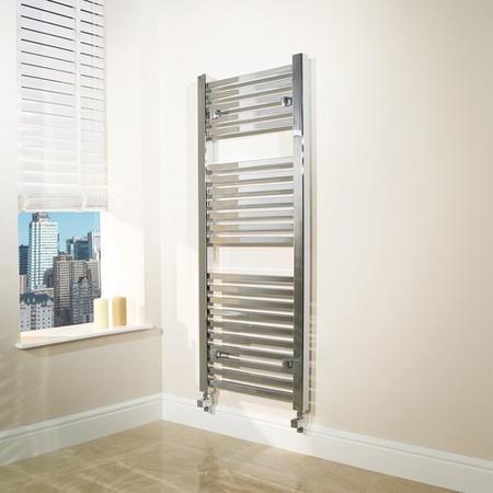 1200 x 450mm Square Chrome Heated Towel Rail - Beta Heat Range £49.97 Appliances Direct