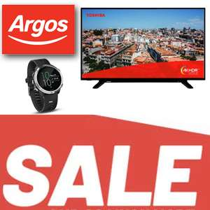 Argos Sale Starts Christmas Day - Garmin Forerunner 645 Music Smart Watch £199.99 / Toshiba 49 Inch Smart UHD TV £269