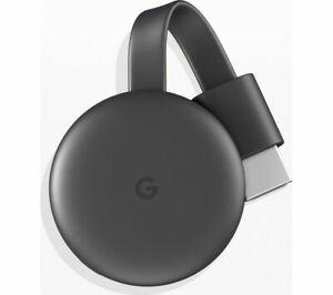 GOOGLE Chromecast - Third Generation, Charcoal £20 - Currys eBay