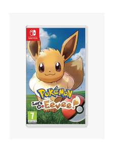Pokémon: Let's Go, Eevee! (Switch) £31.99 (+£2 C&C) @ John Lewis