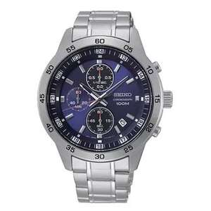 Seiko Blue Chronograph Dial Stainless Steel Bracelet Watch £119 @ H Samuel