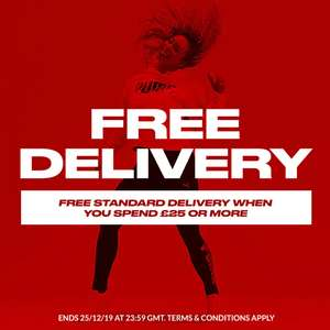 Free delivery spend £25 & over @ Sports Direct